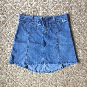 Candies Hi-Lo Denim Skirt Size 9 EUC